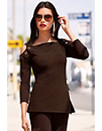Travel Grommet Cold Shoulder Tunic Top Photo