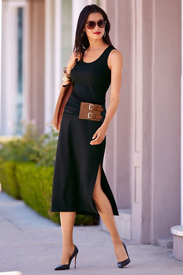 Travel it belted dress