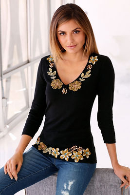 Asian inspired trim sweater