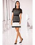 Black White Circle Lace Dress Photo