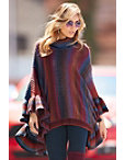 Colorful Striped Poncho Photo