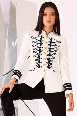 Soutache military jacket