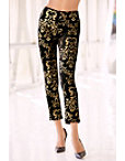Back Zip Printed Foil Pant Photo
