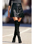 Leather A-line Mini Skirt Photo