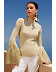 Shimmer Lace Bell-sleeve Sweater Photo