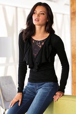 Ruffle lace sweater