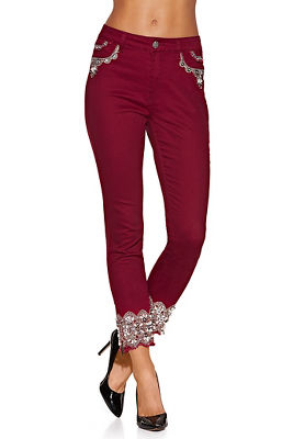 Display product reviews for Pearl embellished jean