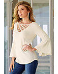 Crisscross Keyhole Sweater Photo