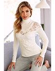 Lace Illusion Beaded Sweater Photo