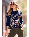 Floral Embroidered Sweater Photo
