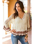 Boho Open Knit Sweater Photo