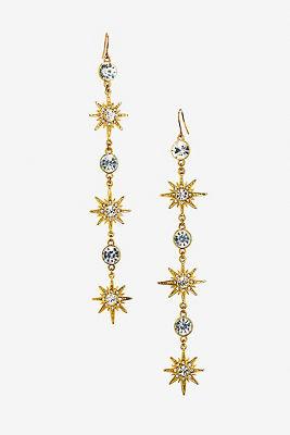 Dangling star earrings