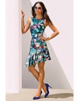 Floral Asymmetric Hem Dress Photo