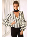 Striped Layered Sleeve Top Photo