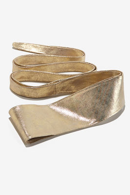 Metallic shine belt