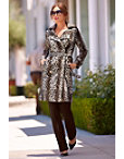 Leopard Faux Fur Trench Coat Photo