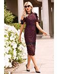 Flutter Sleeve Cold Shoulder Lace Dress Photo