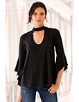 Keyhole Flare-sleeve Top Photo