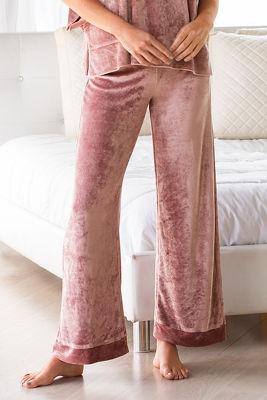 Easy velour wide leg lounge pant