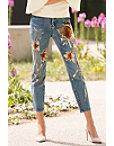 Sequin Flower Patch Jean Photo