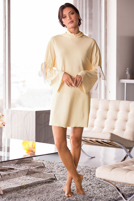 Drawstring sleeve dress image