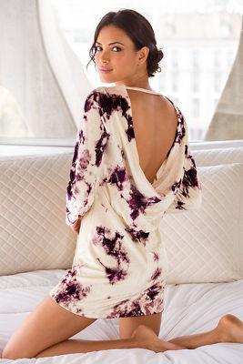 Draped back velvet dress