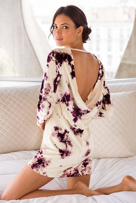 Draped back velvet dress