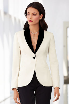 Black label tuxedo jacket