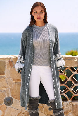 Embellished Sleeve Duster