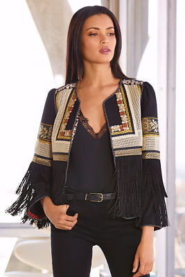 Embroidered Fringe Jacket I