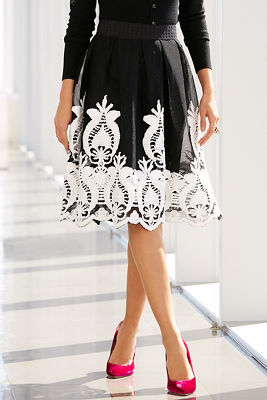 Embroidered party skirt