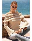 Faux-fur Trim Off-the-shoulder Sweater Photo