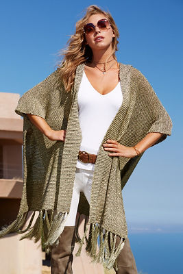 Gold metallic sweater duster