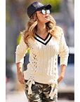 Lace-up Varsity Sweater Photo