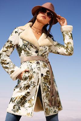 Long floral foiled jacket