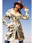 Long Floral Foiled Jacket Photo