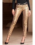 Metallic Leopard Skinny Jean Photo