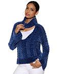 Mock-neck Keyhole Chenille Sweater Photo