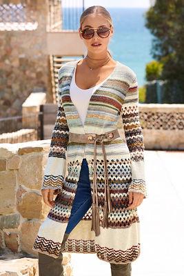 multistitch sweater duster