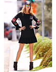 Novelty Sweatshirt Ruffle Dress Photo