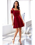 One Shoulder Velvet Dress Photo