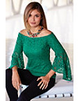 Off-the-shoulder Sequin Lace Top Photo