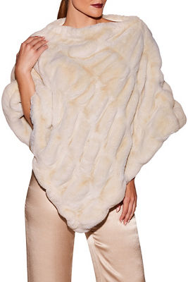 Display product reviews for Plush faux-fur poncho