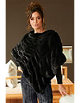 Plush Faux-fur Poncho Photo
