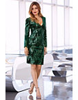 Sequin Velvet Long-sleeve Dress Photo