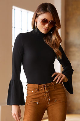 So Sexy™ flare sleeve turtleneck top