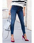 Step Hem Skinny Jean Photo