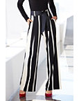 Striped Tie-front Trouser Pant Photo
