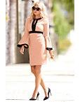 Travel Colorblock V Neck Flare-sleeve Dress Photo
