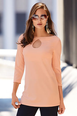 Travel keyhole tunic top
